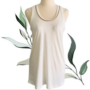 COUNTRY ROAD Cream Tank Top with Rose Gold Accent